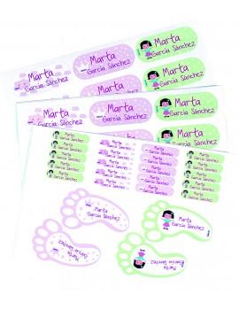 Etiquetas personalizadas multiusos
