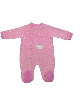 Pijama bordado de terciopelo. Talla 6 Y 18 meses