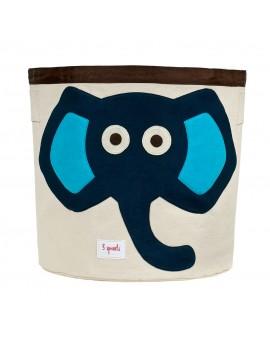 Cesta para juguetes Elefante (rosa y azul) 3 Sprouts
