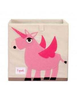 Cubo para juguetes unicornio 3 Sprouts