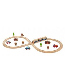 Conjunto tren de madera