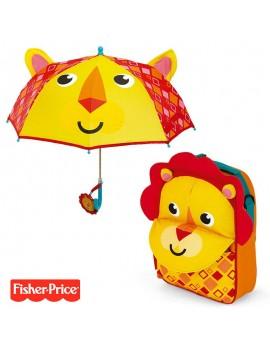 Pack mochila y paraguas Fisher Price León