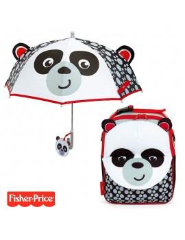 Pack mochila y paraguas Fisher Panda