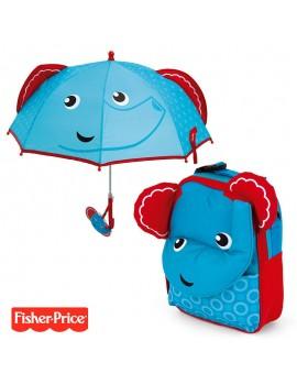 Pack mochila y paraguas Fisher Elefante