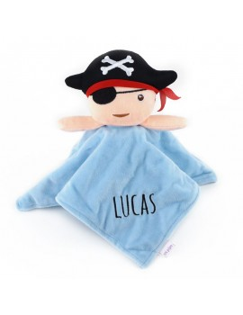 Doudou sonajero Pirata personalizado