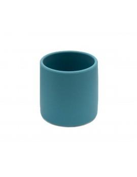Vaso de silicona azul oscuro