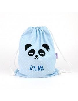 Bolsa merienda panda personalizada Mipipo