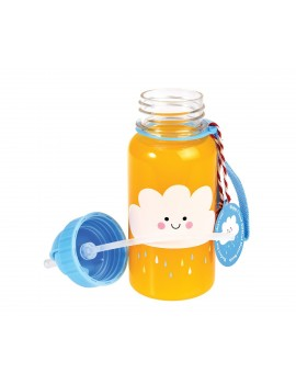 Botella con pajita Happy Cloud