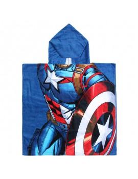 Poncho de baño Capitán América