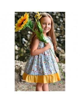 Vestido flores de primavera. Talla 2-8 años