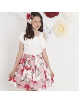 Conjunto falda estampado floral. Talla 8-16 años
