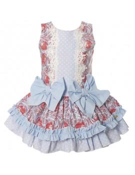 Vestido lazo Dijon. Talla 2-8 años