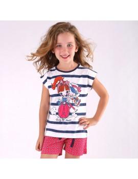 Pijama algodón Tobogán niña. (Talla 2-7 años)