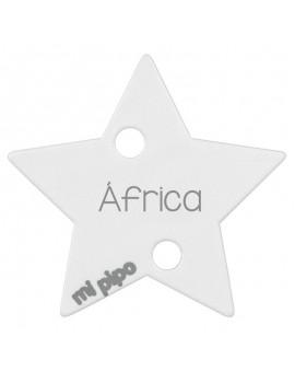 Sujetachupetes personalizado estrella