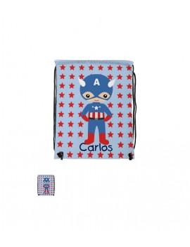 Mochila de cuerdas personalizada Capitán América 34*42 cm