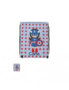 Mochila de cuerdas personalizada Capitán América 27*33 cm