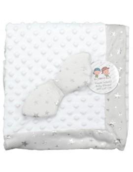 Manta para bebé topitos con lazo Gamberritos