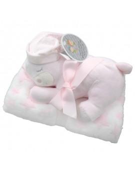 Manta para bebé con peluche Gamberritos