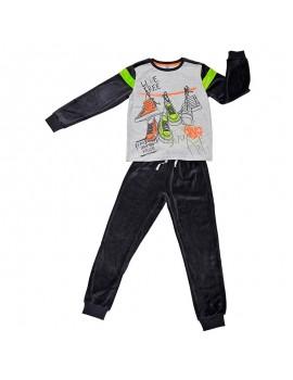 Pijama terciopelo Tobogán niño (Talla 8-16 años)