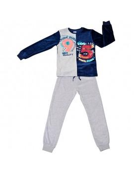 Pijama atercipelado Tobogán niño (Talla 8-16 años)