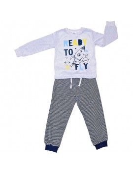 Pijama aterciopelado niño. Tallas 2-6 años
