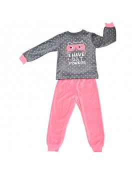 Pijama aterciopelado niña. Tallas 2-6 años