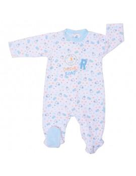 Pijama atercipelado niño. (Talla 0 a 6 meses)