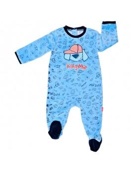 Pijama bordado de terciopelo. Talla 6-24 meses