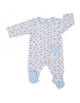 Pijama algodón niño. (Talla 0 a 6 meses)
