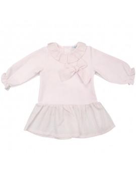 Vestido lazo rosa. Tallas 3 meses a 4 años