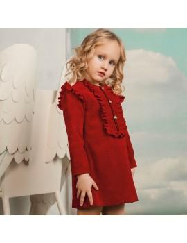 Vestido rojo. Talla 2 a 14 años
