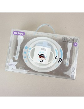 Vajilla personalizada bebé 5 piezas PIRATA