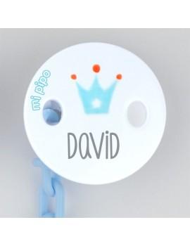 Sujetachupetes personalizado corona