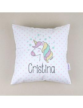 Cojín almohada personalizado unicornio