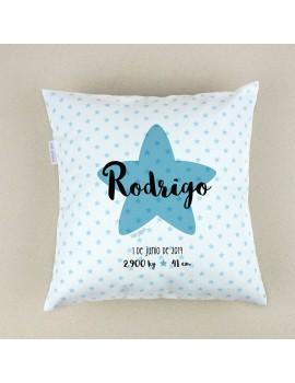 Cojín almohada personalizado nacimiento estrella