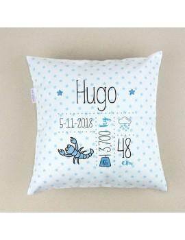 Cojín almohada personalizado nacimiento horóscopo