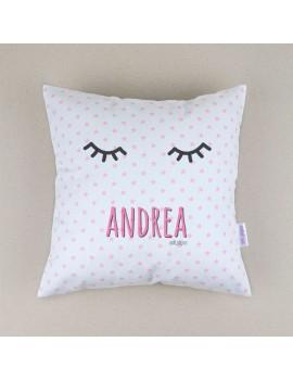 Cojín almohada personalizado pestañas
