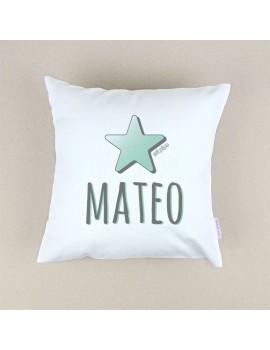 Cojín almohada personalizado estrella