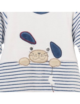Pijama de terciopelo. Talla 0- 6 meses