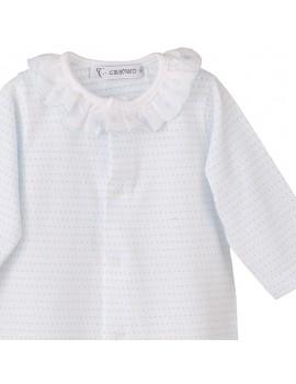 Pijama algodón cuello batista (Talla 3 a 24)