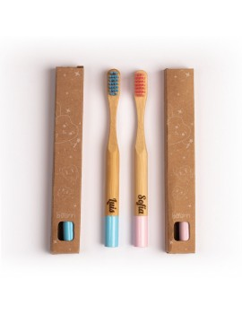 Cepillo de Dientes Bambú con Nombre Personalizado