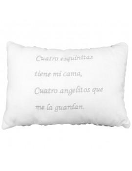Cojín decorativo bordado Gamberritos Cuatro esquinitas
