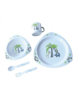 set vajilla infantil jungle friends Bo Jungle