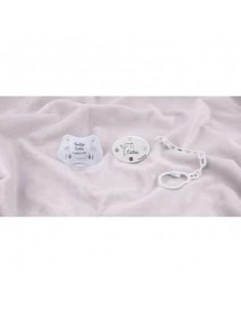 Pack Bautizo personalizado blanco